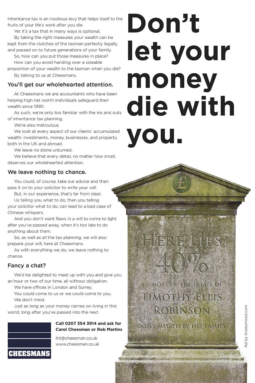 marketing inheritance tax planning