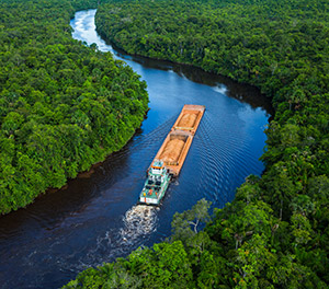 JP Knight barge in Suriname