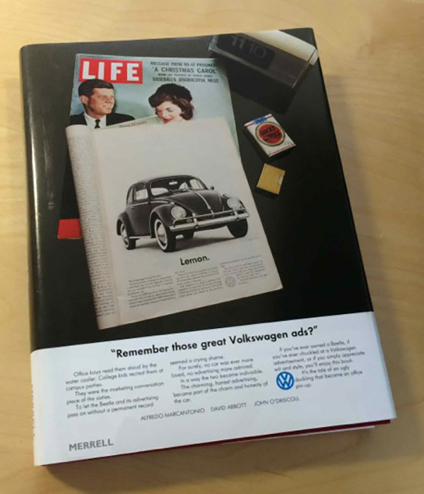 Book about Famous Volkswagen ads from DDB and Bill Bernbach