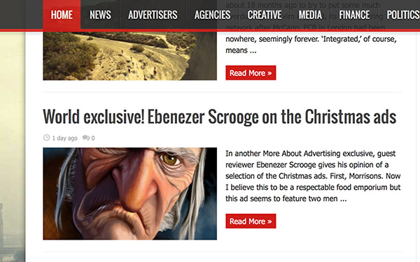 Scrooge casts a critical eye over the current crop of Christmas Advertising