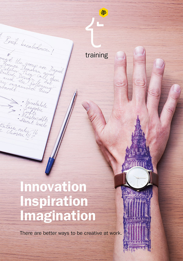 Innovation, Inspiration, Imagination. There are better ways to be creative at work. D&AD training