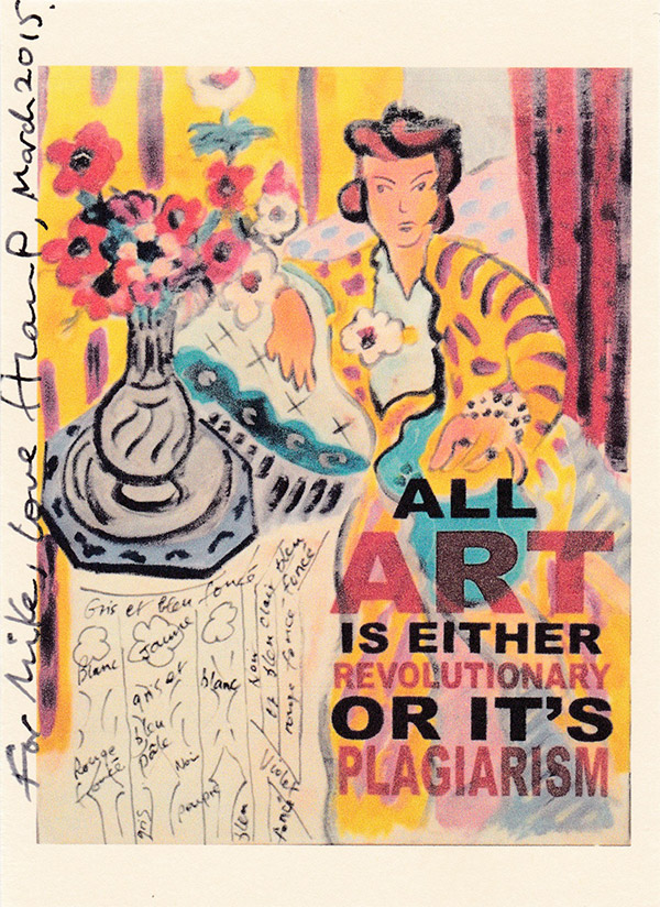 Sir Alan Parker – in the style of Matisse