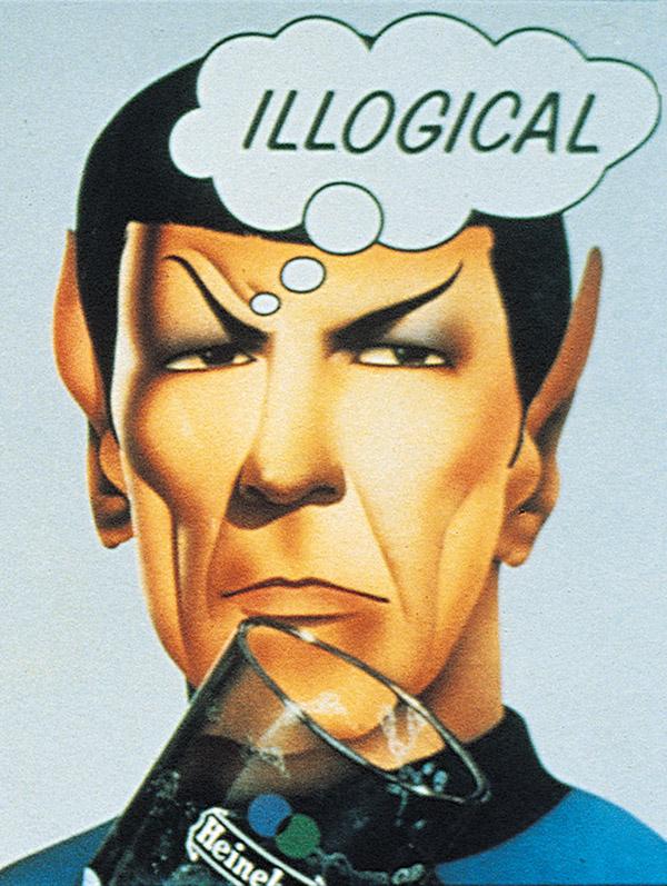 Leonard Nimoy's Spock, illogical Heineken poster