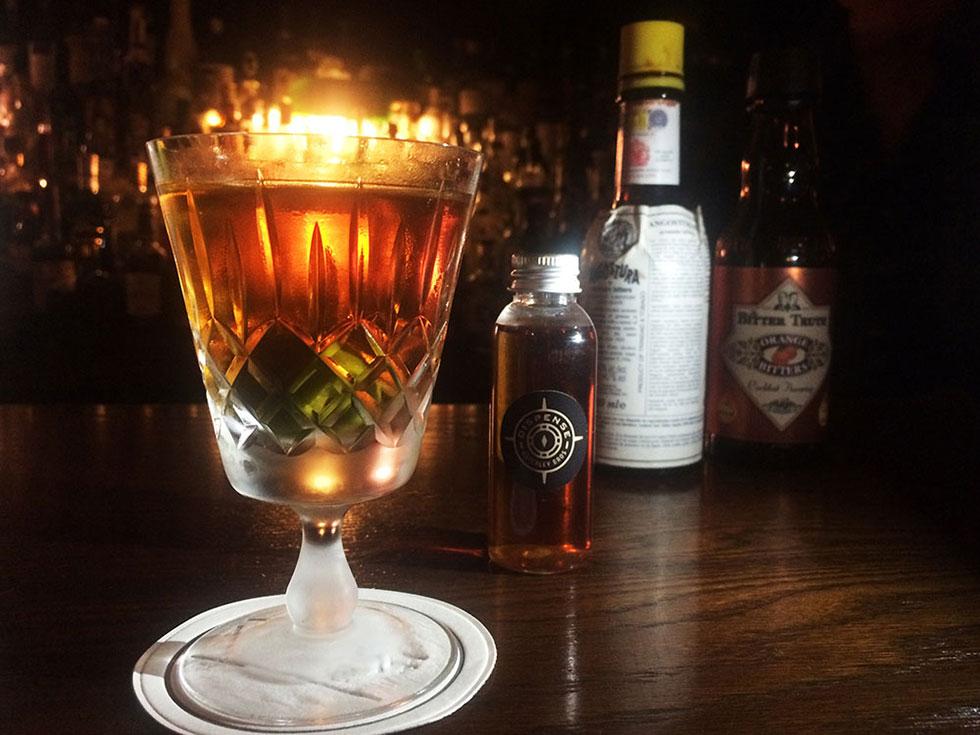 Nate Brown's Merchant Club cocktail using Asterley Bros. Dispense