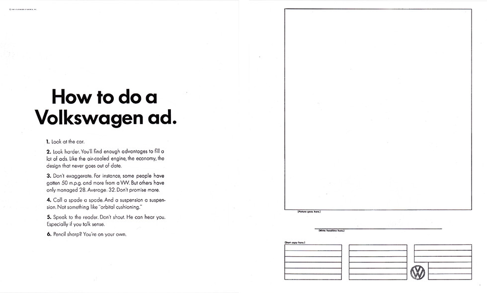 How to write a VW ad